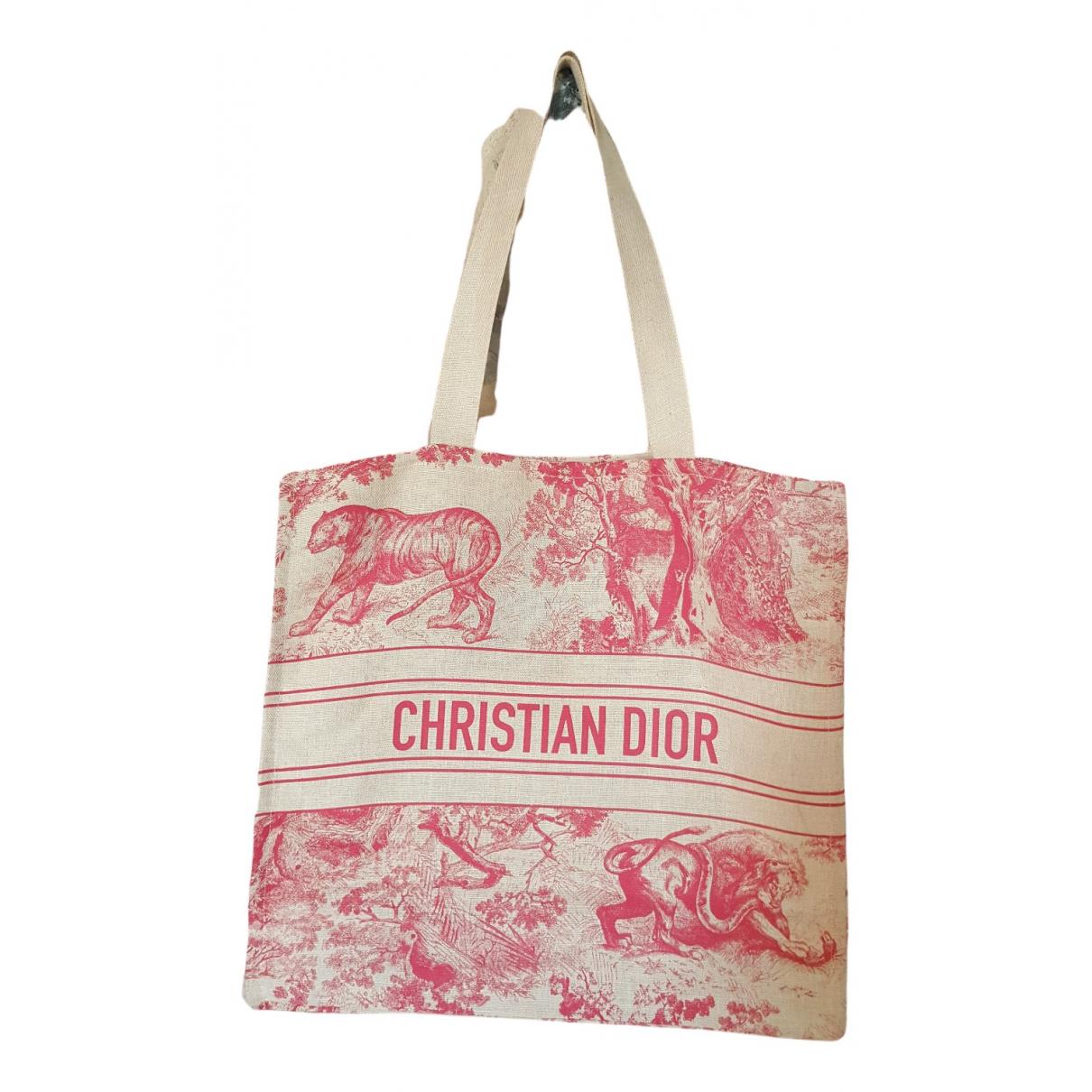 Dior N Ecru Linen handbag for Women N