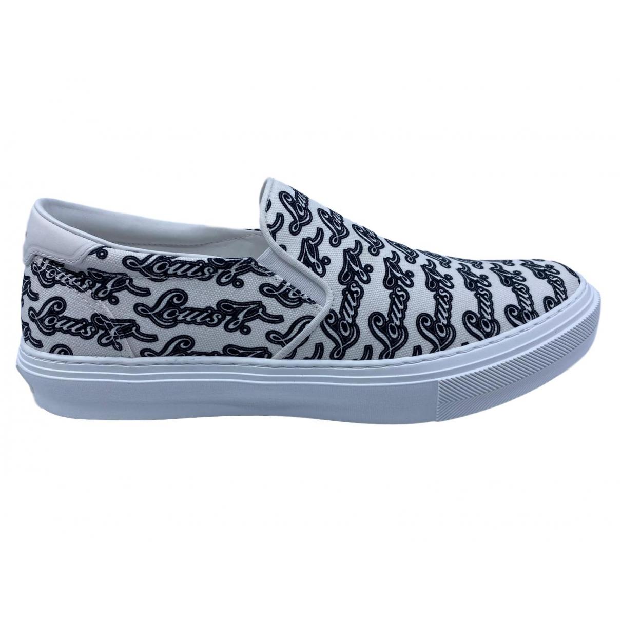 Louis Vuitton \N Sneakers in  Weiss Leinen