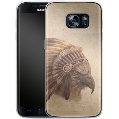 Samsung Galaxy S7 Silikon Handyhuelle - Eagle Chief von Terry Fan