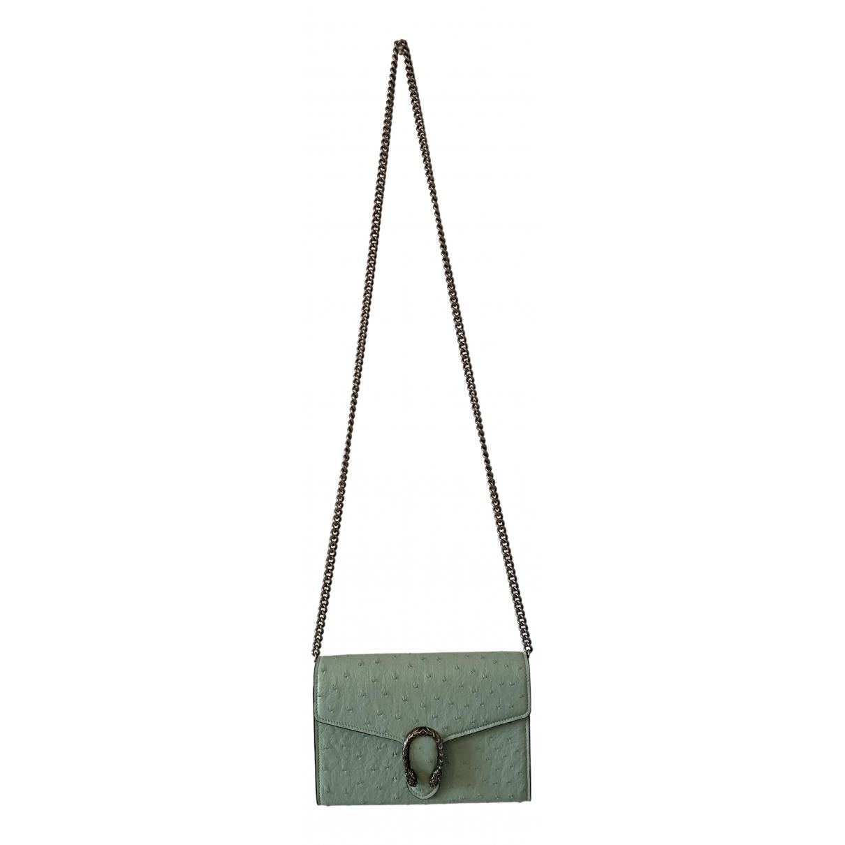 Gucci Dionysus Green Ostrich handbag for Women N