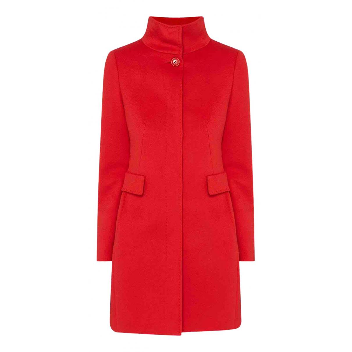 Max Mara Studio - Manteau   pour femme en laine - rouge