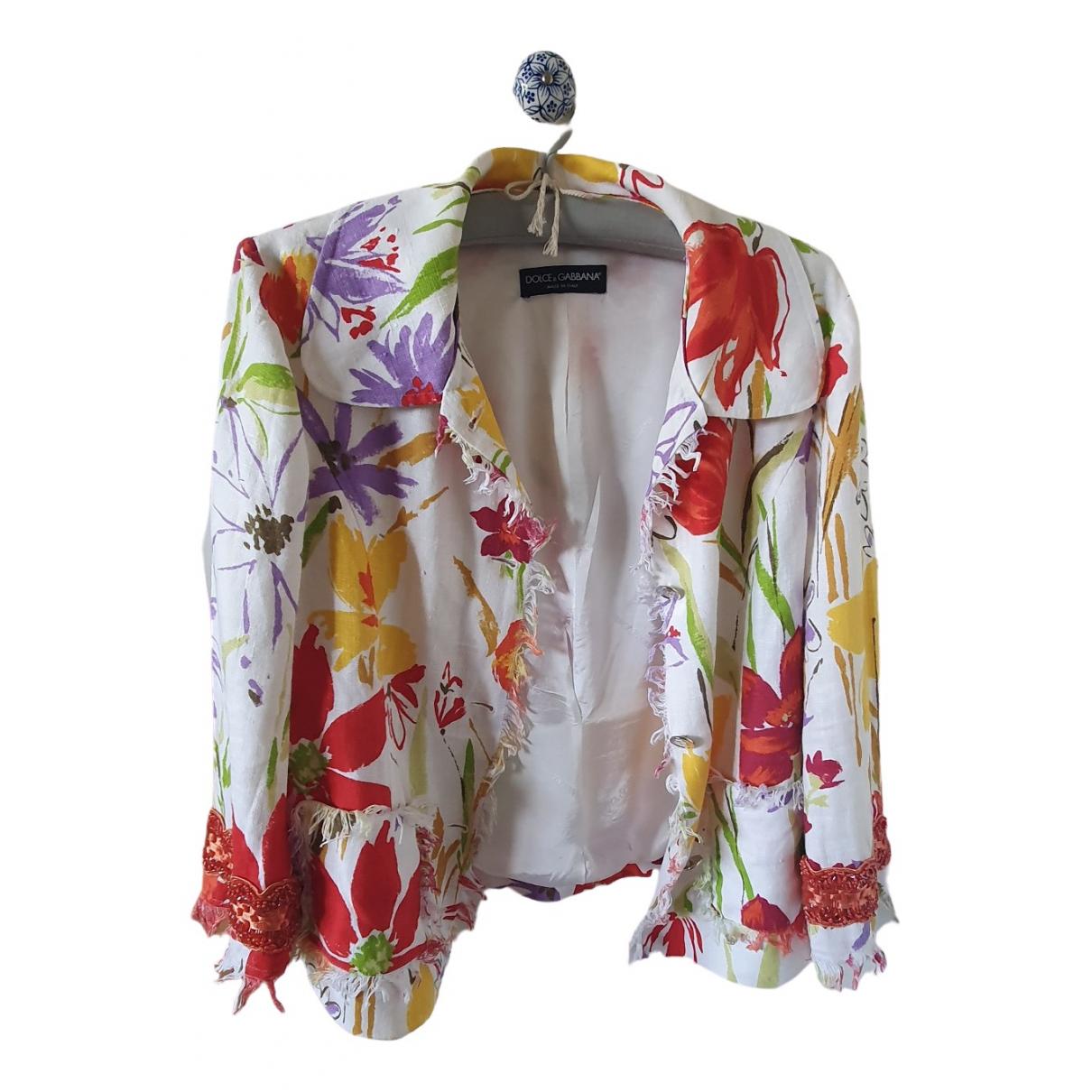 Dolce & Gabbana - Veste   pour femme en lin - multicolore