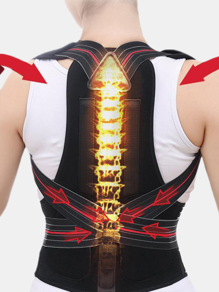 Unisex Body Wellness Back Posture Corrector Breathable Strongly Control For Vertebral Pain Relief