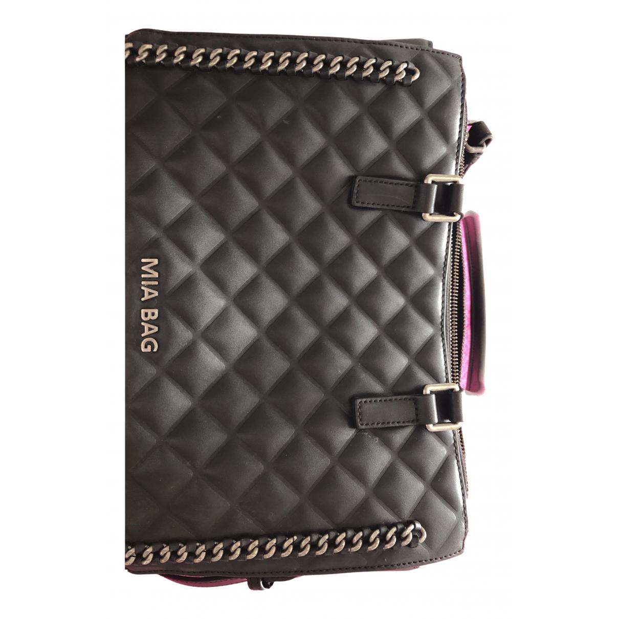 Mia Bag \N Handtasche in  Schwarz Leder