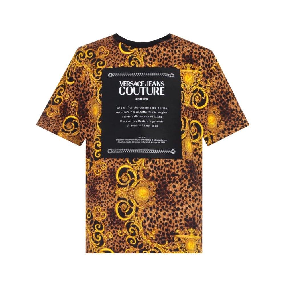 Versace Jeans Couture Baroque Print T-Shirt Size: MEDIUM, Colour: MULTI COLOURED