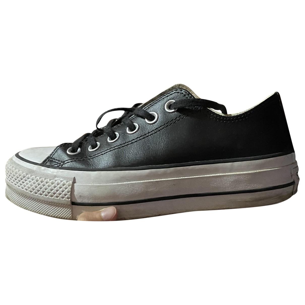 Converse \N Sneakers in  Schwarz Leder