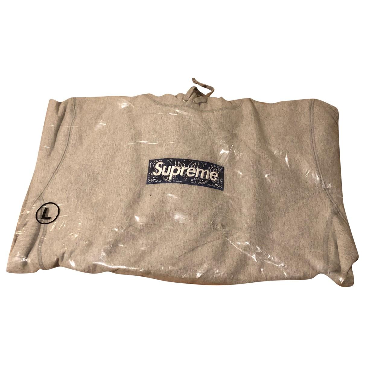 Supreme \N Grey Cotton Knitwear & Sweatshirts for Men L International