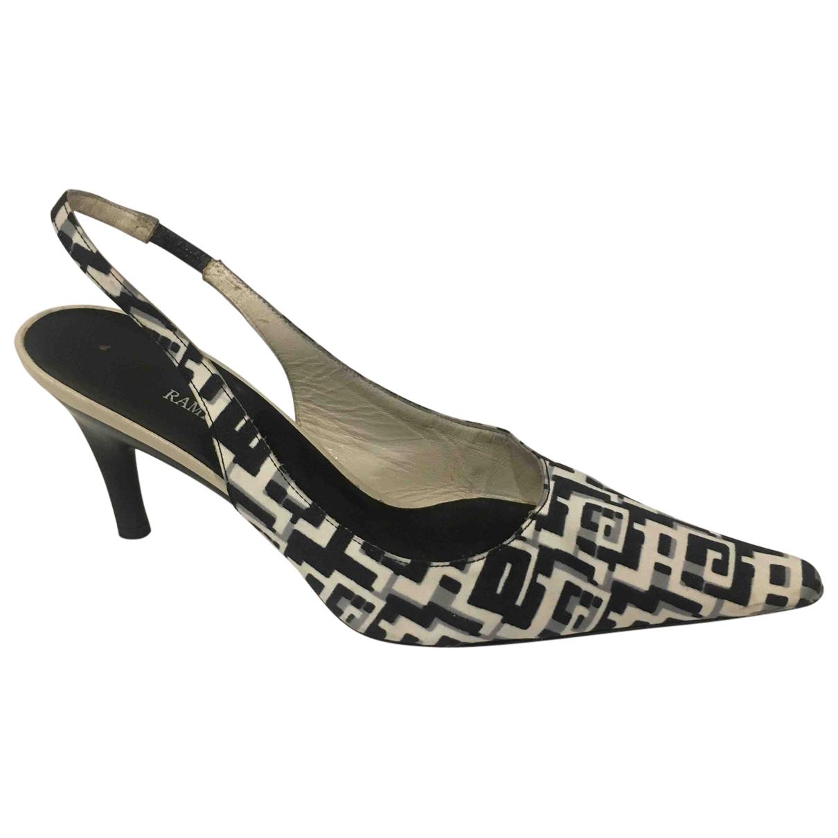 Autre Marque N Multicolour Cloth Heels for Women 37 IT