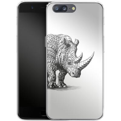 OnePlus 5 Silikon Handyhuelle - Rhinoceros von BIOWORKZ