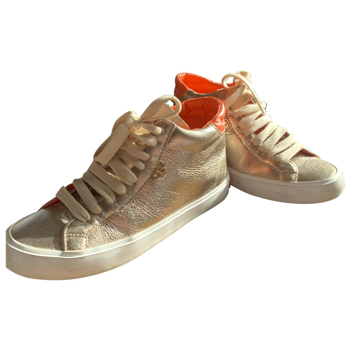 Tory Burch \N Gold Leather Trainers for Women 37.5 EU