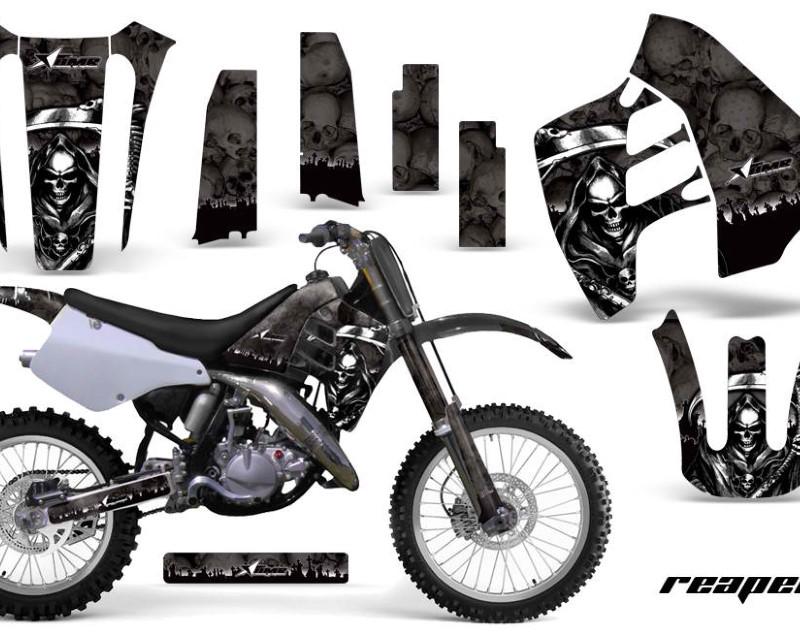 AMR Racing Dirt Bike Graphics Kit Decal Sticker Wrap For Suzuki RM125 RM250 1990-1992áREAPER BLACK