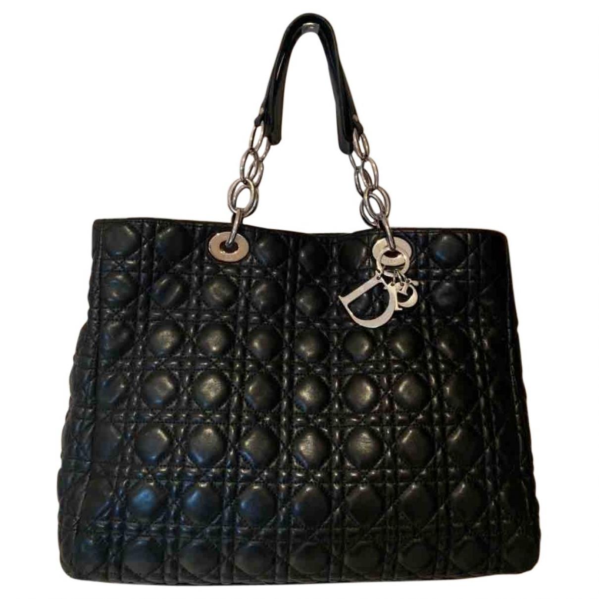 Dior Dior Soft Shopping Handtasche in  Schwarz Leder