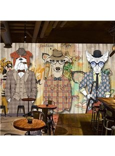 Creative Abstract Handsome Dogs Pattern Waterproof 3D Wall Murals