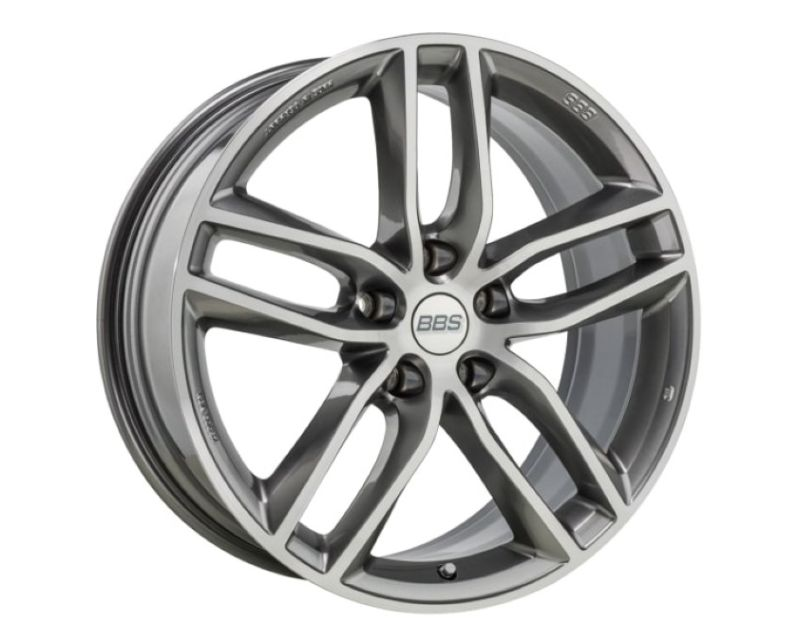 BBS SX Wheel 18x8 5x112 35mm Platinum with Diamond-Cut Face