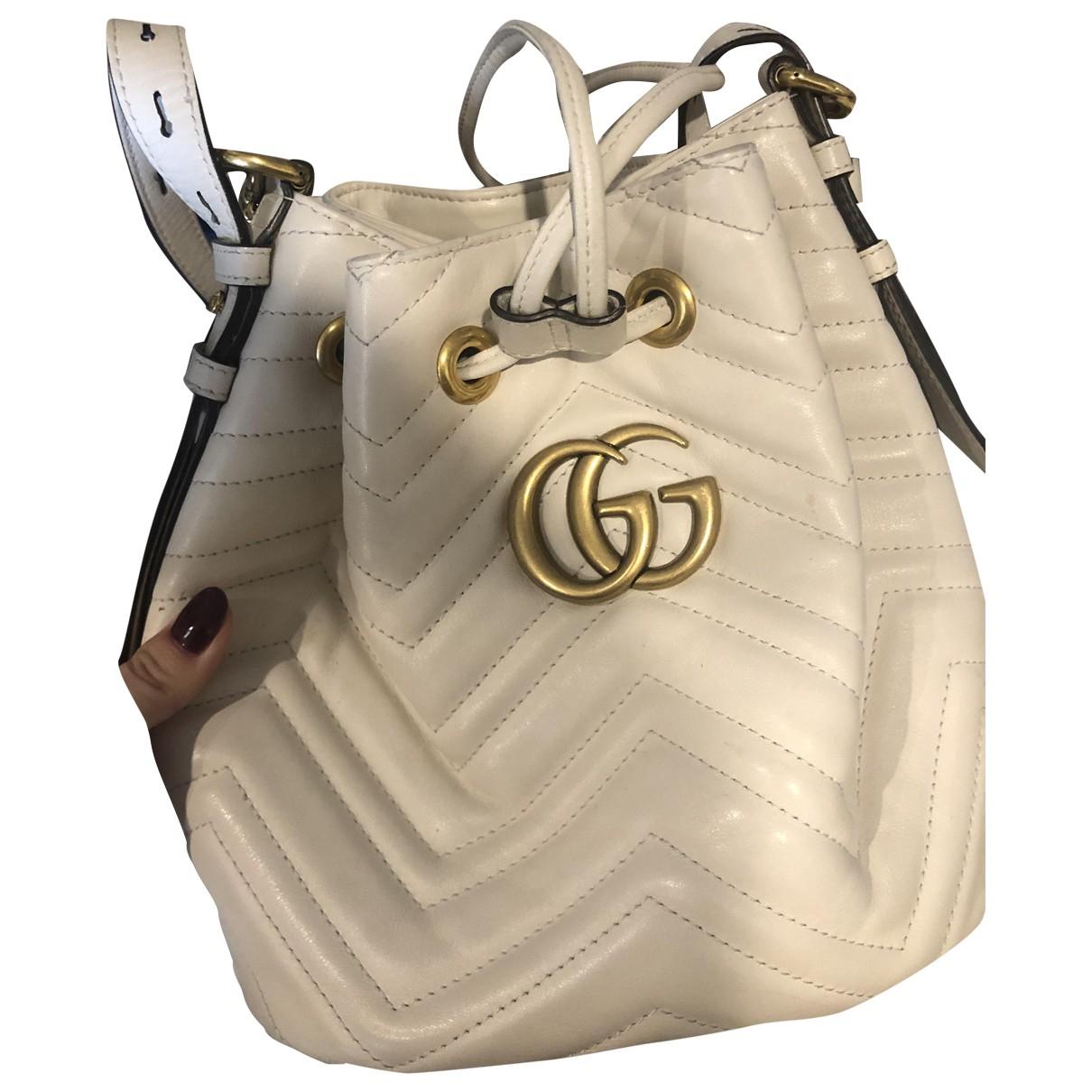 Gucci - Sac a dos Marmont pour femme en cuir - blanc