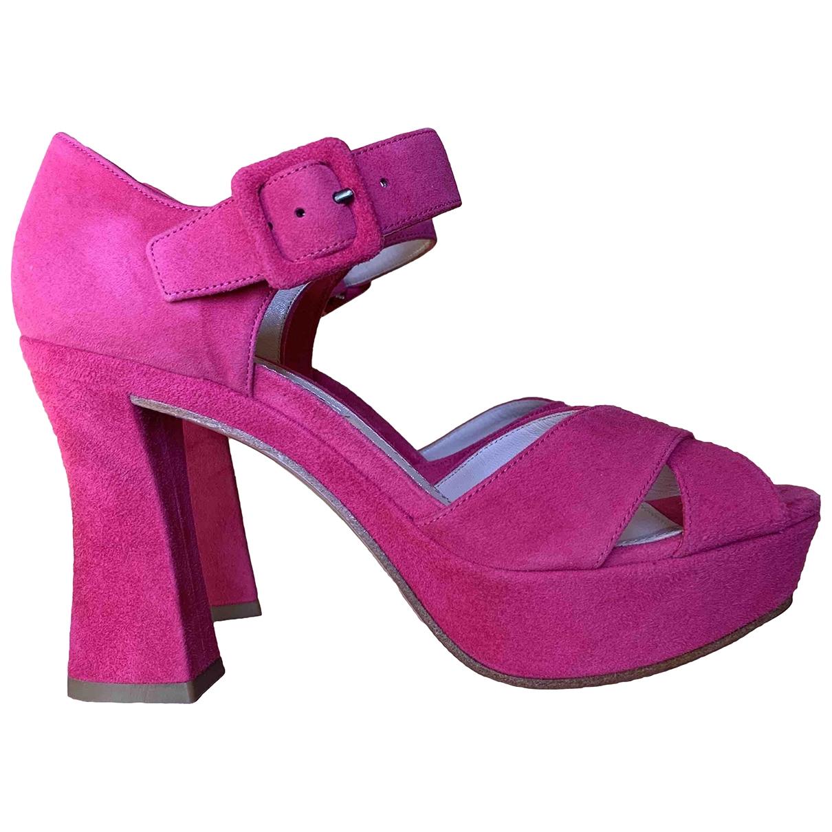 Miu Miu \N Pink Suede Heels for Women 36 IT