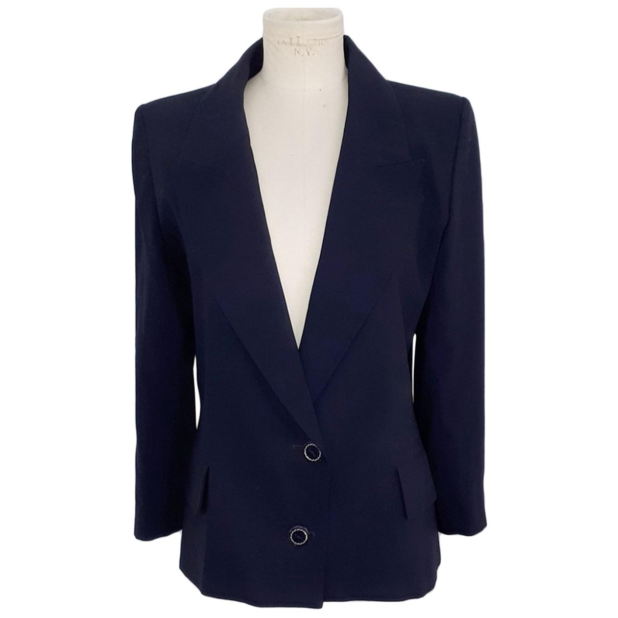 Yves Saint Laurent \N Jacke in  Blau Wolle