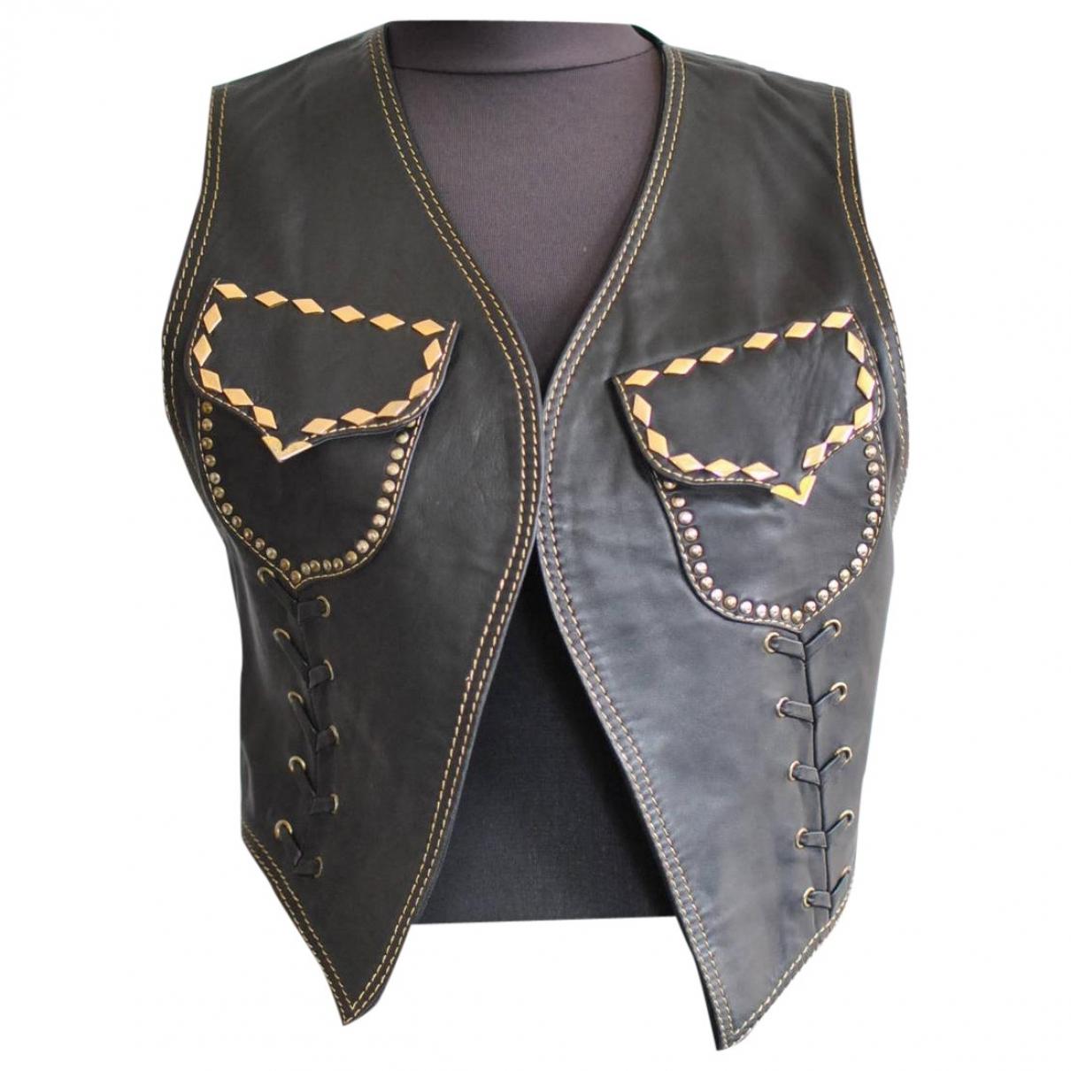 Gianni Versace \N Lederjacke in  Schwarz Leder