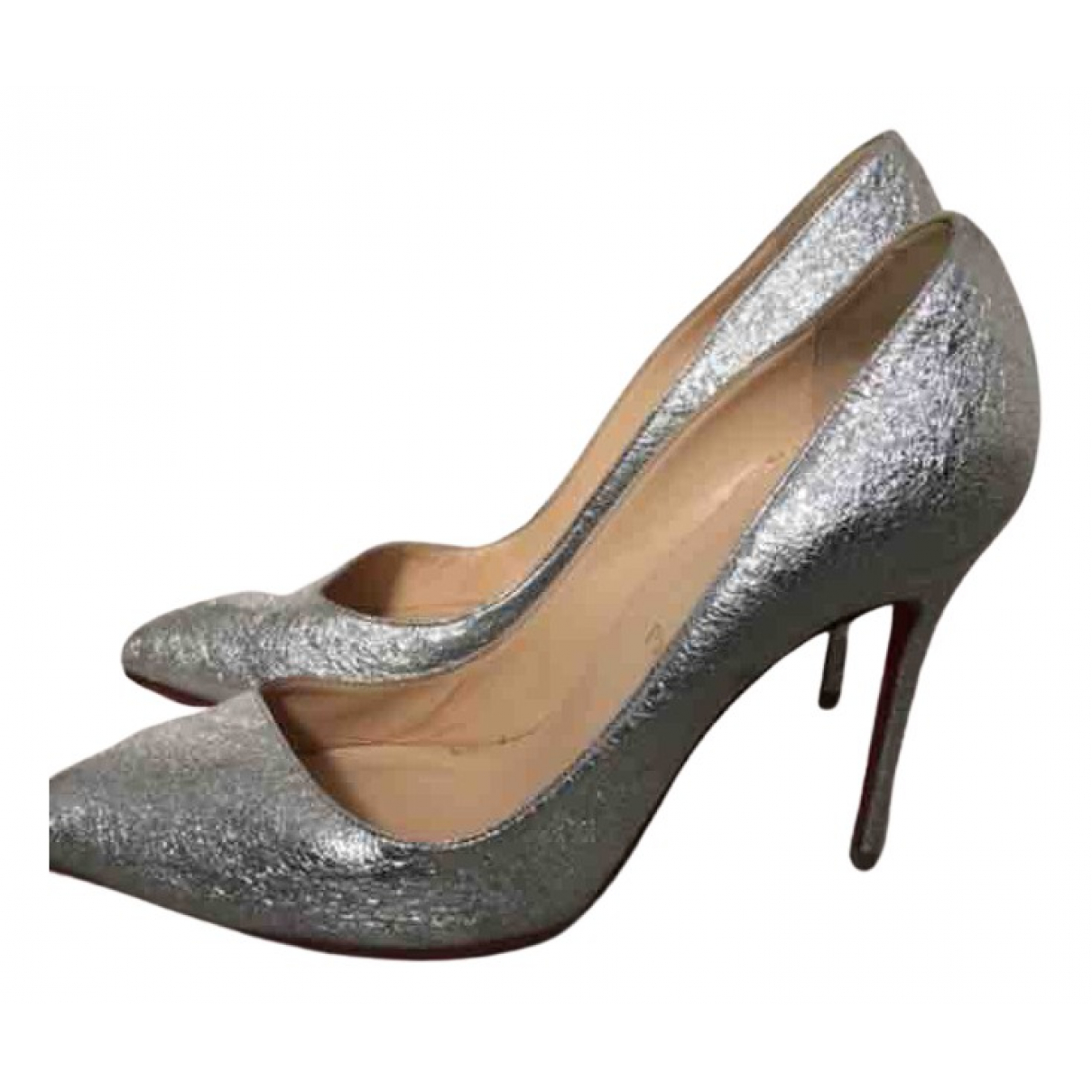 Christian Louboutin Pigalle Pumps in  Silber Fell