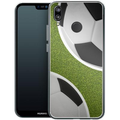 Huawei P20 Lite Silikon Handyhuelle - Two Footballs von caseable Designs