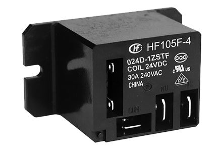 Hongfa Europe GMBH , 24V dc Coil Non-Latching Relay SPDT, 20A Switching Current Flange Mount Single Pole