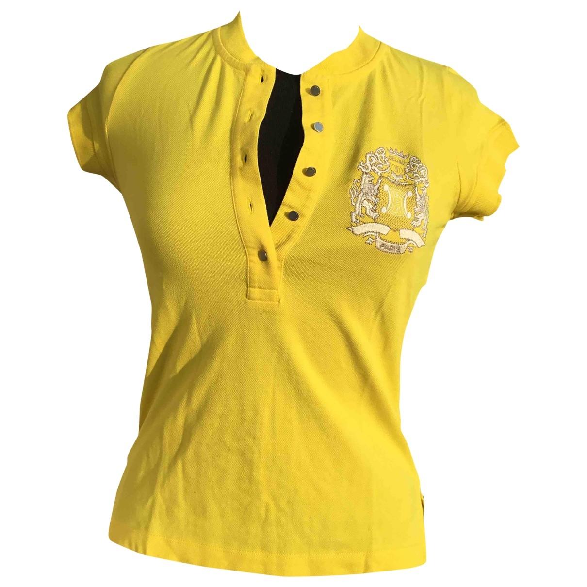Celine \N Top in  Gelb Baumwolle
