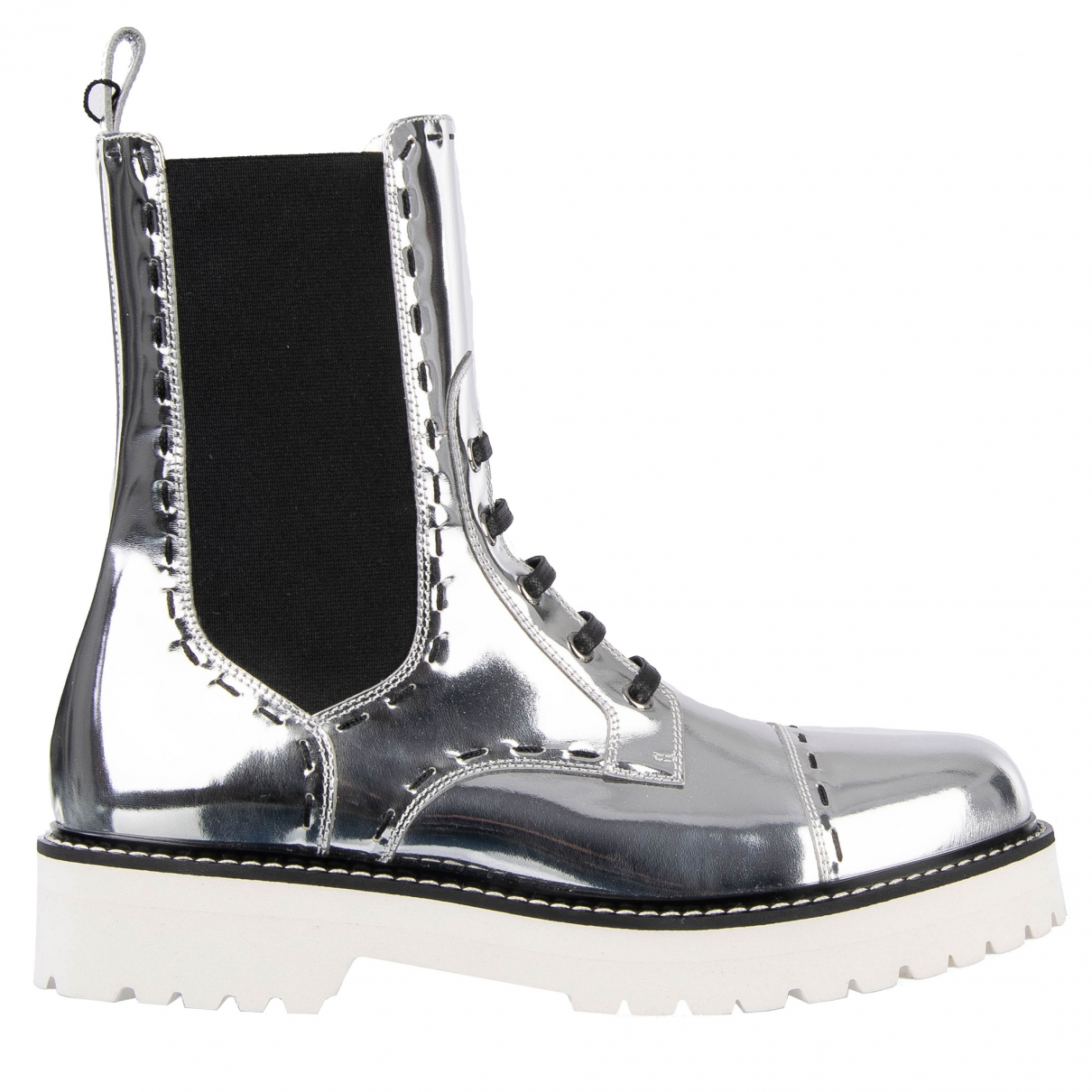 Dolce & Gabbana \N Silver Leather Boots for Women 39 EU