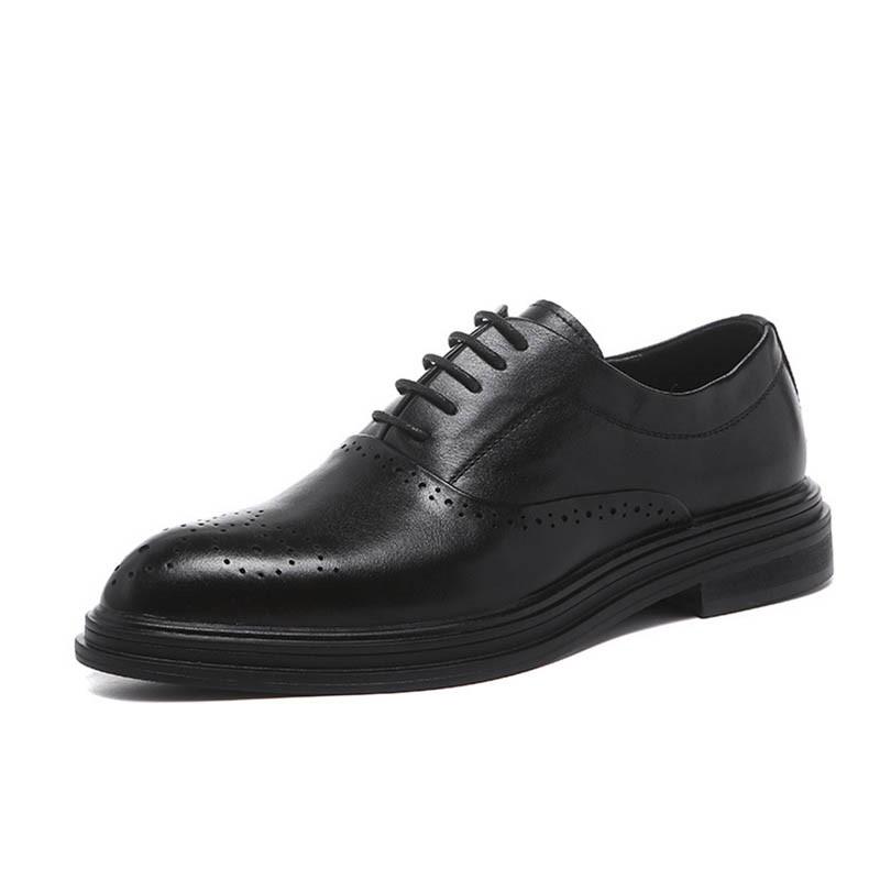 Ericdress Plain Pointed Toe Low-Cut Upper Men's Dress Shoes