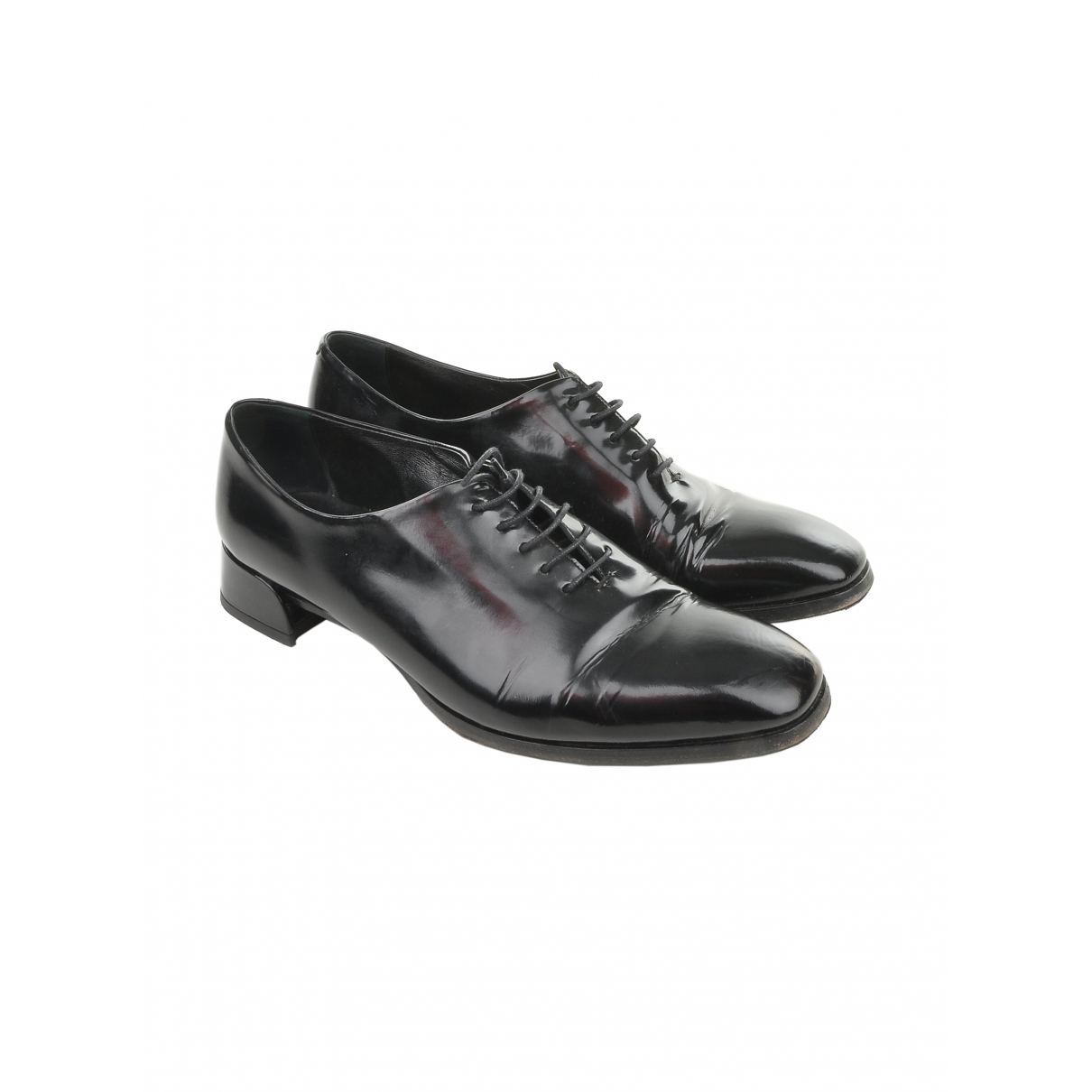 Dior \N Black Patent leather Lace ups for Women 38.5 IT