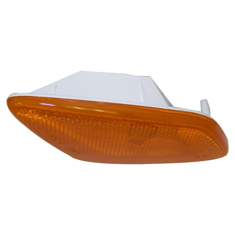 Crown Automotive 55155629AB Jeep Replacement Left Side Marker Lamp, Amber w/ Clear Bulb for 1997-2006 Jeep TJ Wrangler Jeep Left 1997-2006
