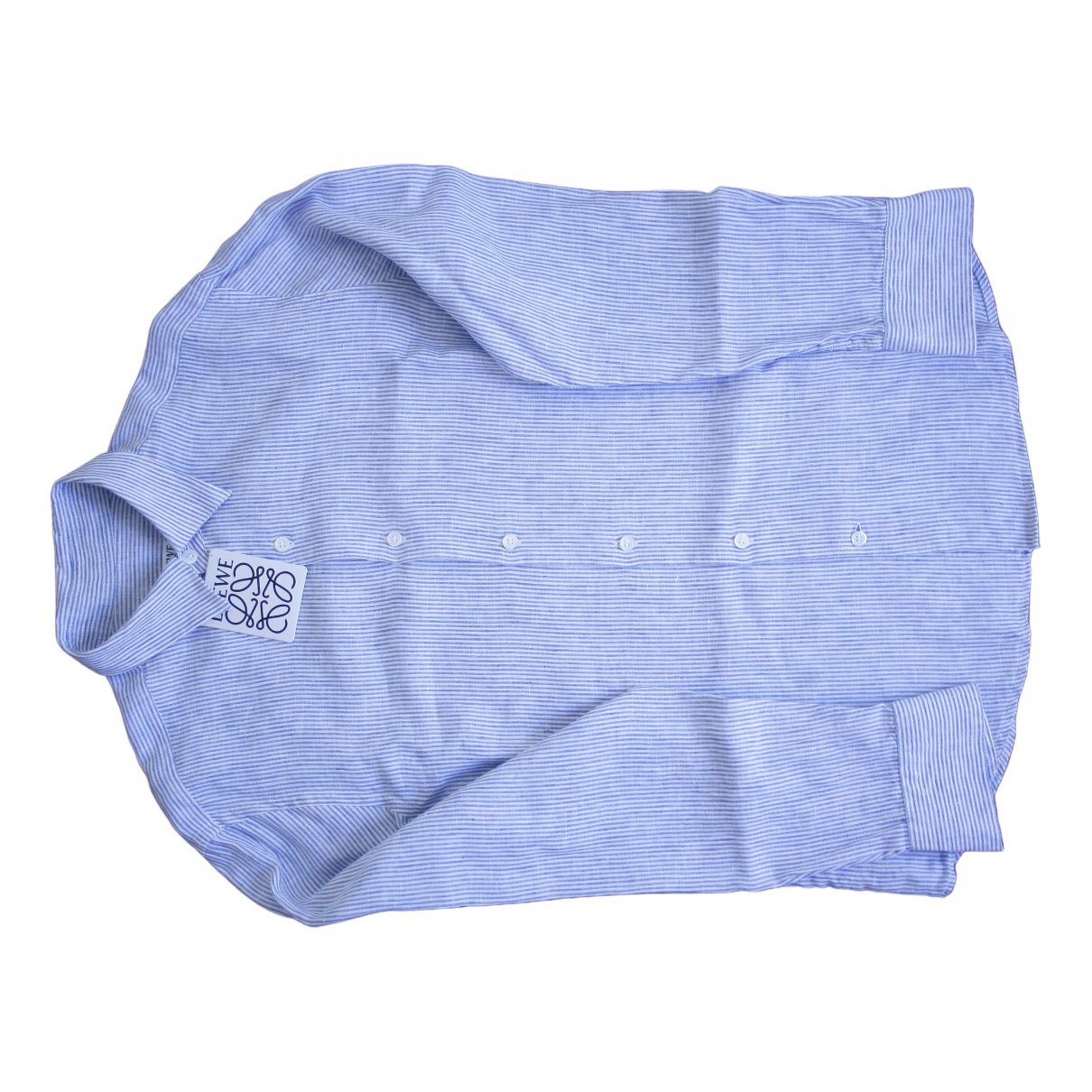 Loewe - Chemises   pour homme en lin - bleu