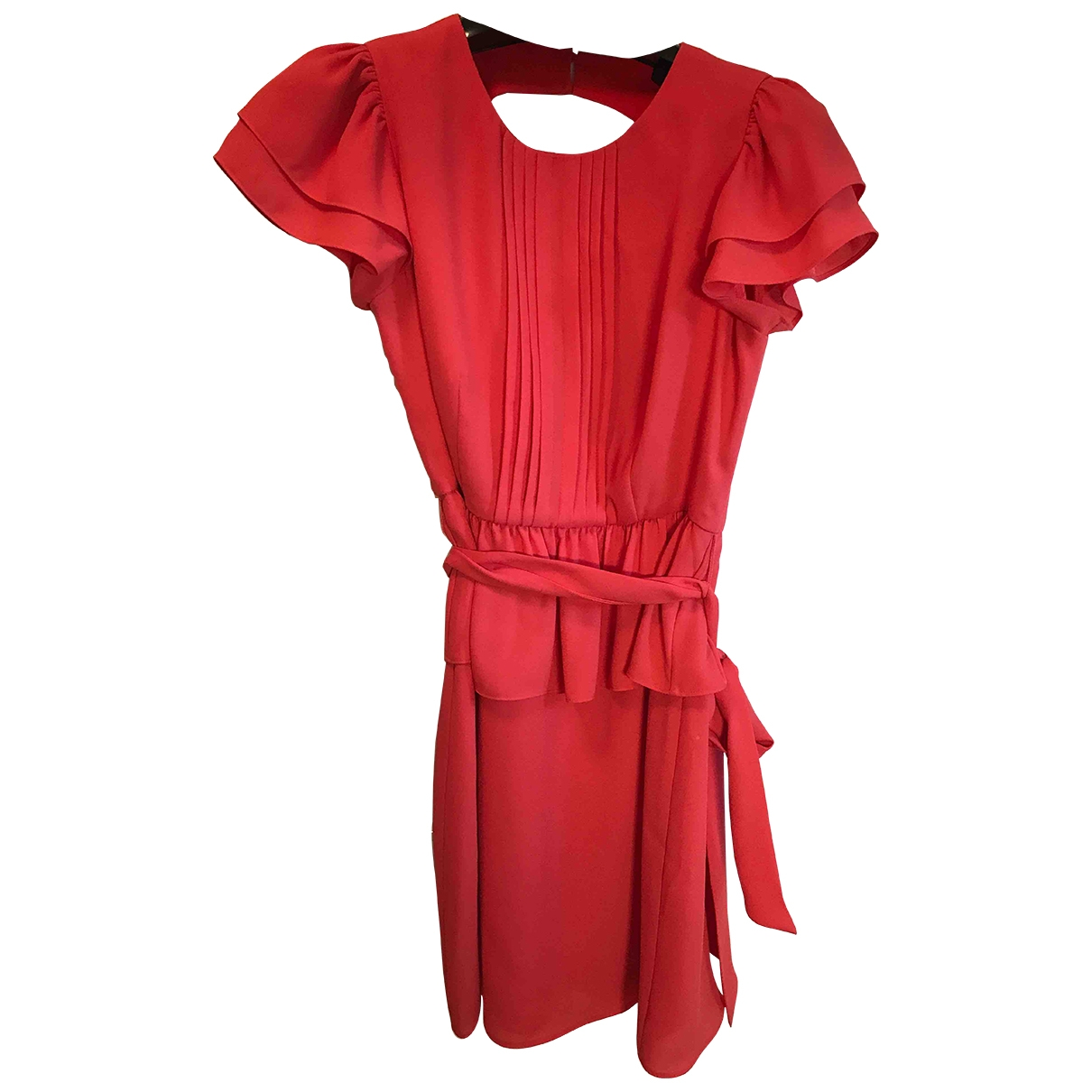 Bcbg Max Azria \N Kleid in  Orange Polyester