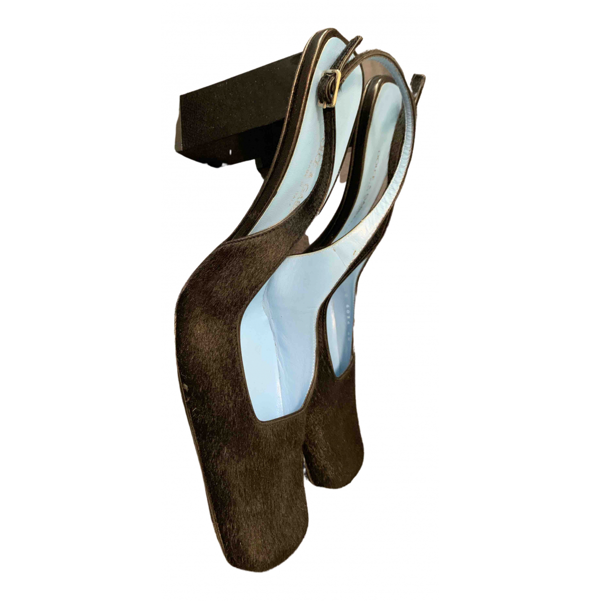 Dolce & Gabbana \N Sandalen in  Schwarz Kalbsleder in Pony-Optik