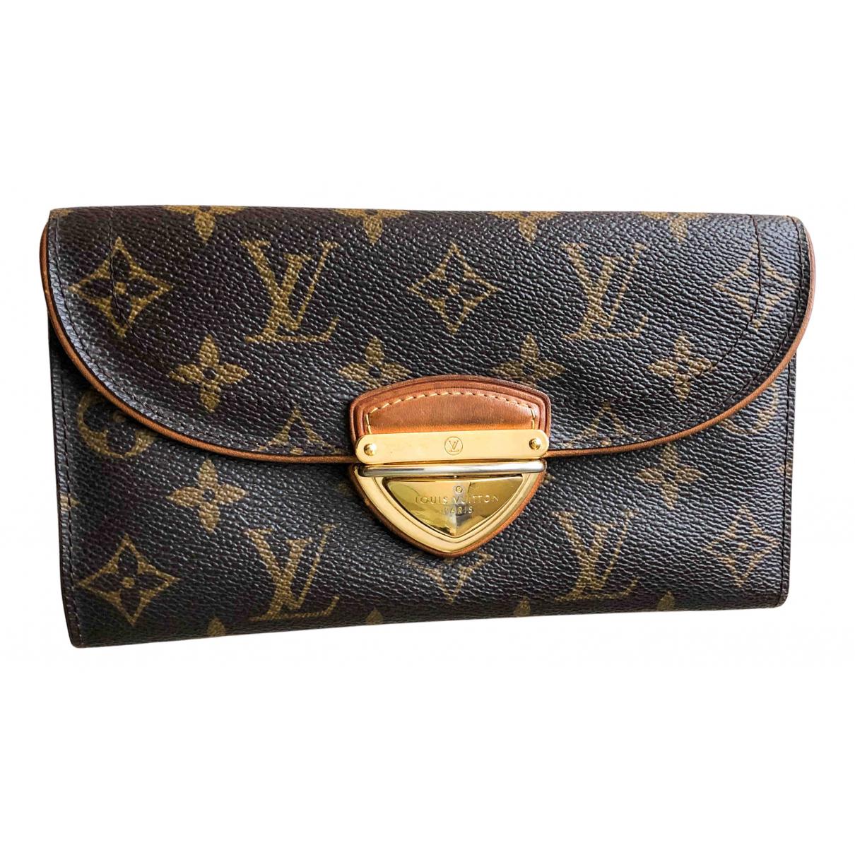 Louis Vuitton - Portefeuille Eugenie pour femme en toile - marron