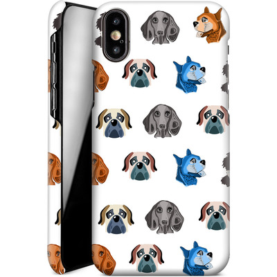 Apple iPhone X Smartphone Huelle - Dog Love von Mukta Lata Barua
