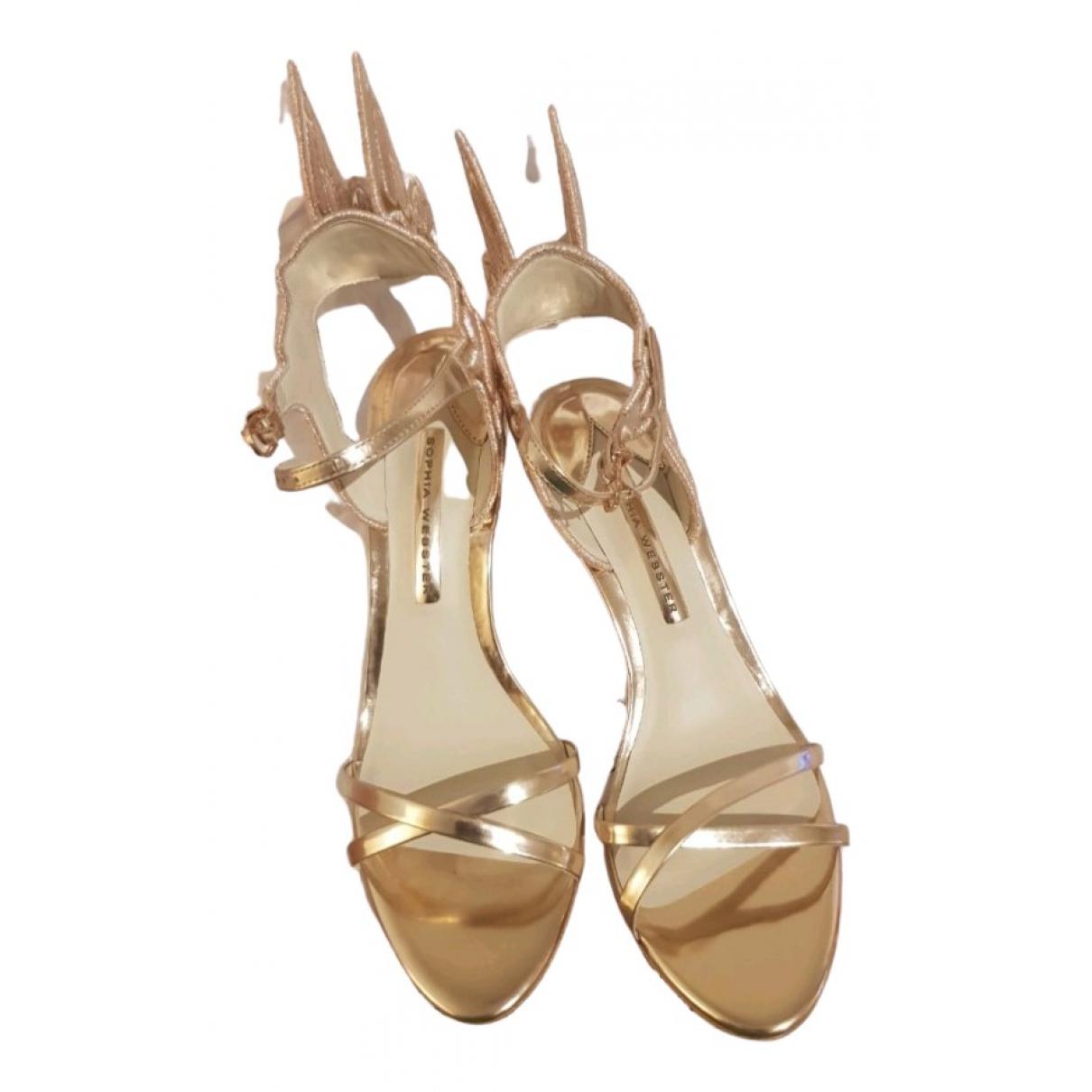 Sophia Webster \N Sandalen in  Gold Lackleder