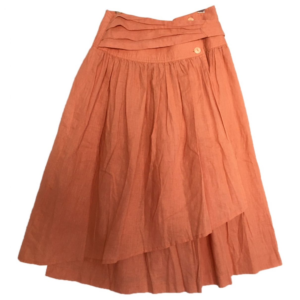 Non Signé / Unsigned Hippie Chic Pink Cotton - elasthane skirt for Women 8 UK