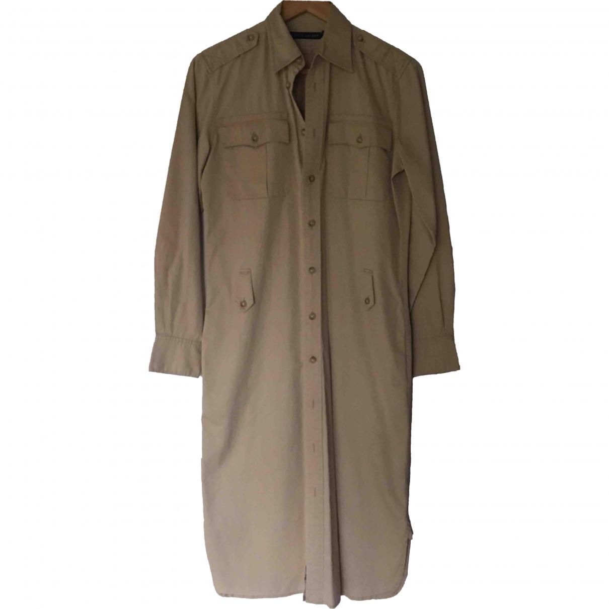 Ralph Lauren \N Beige Cotton dress for Women 8 US