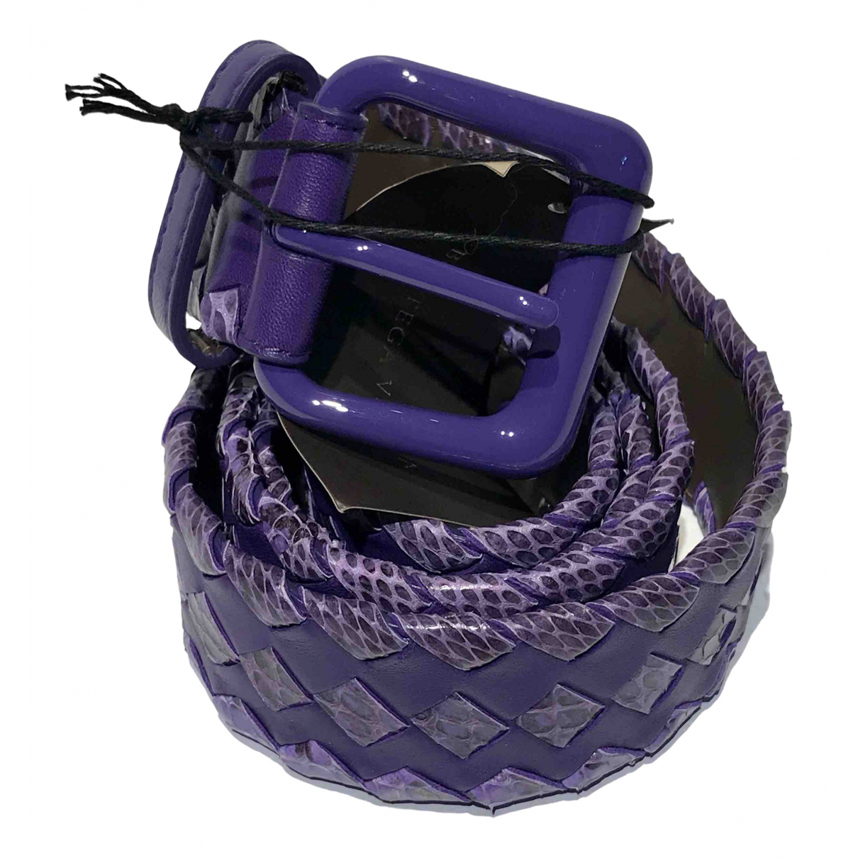 Bottega Veneta \N Purple Leather belt for Women 90 cm
