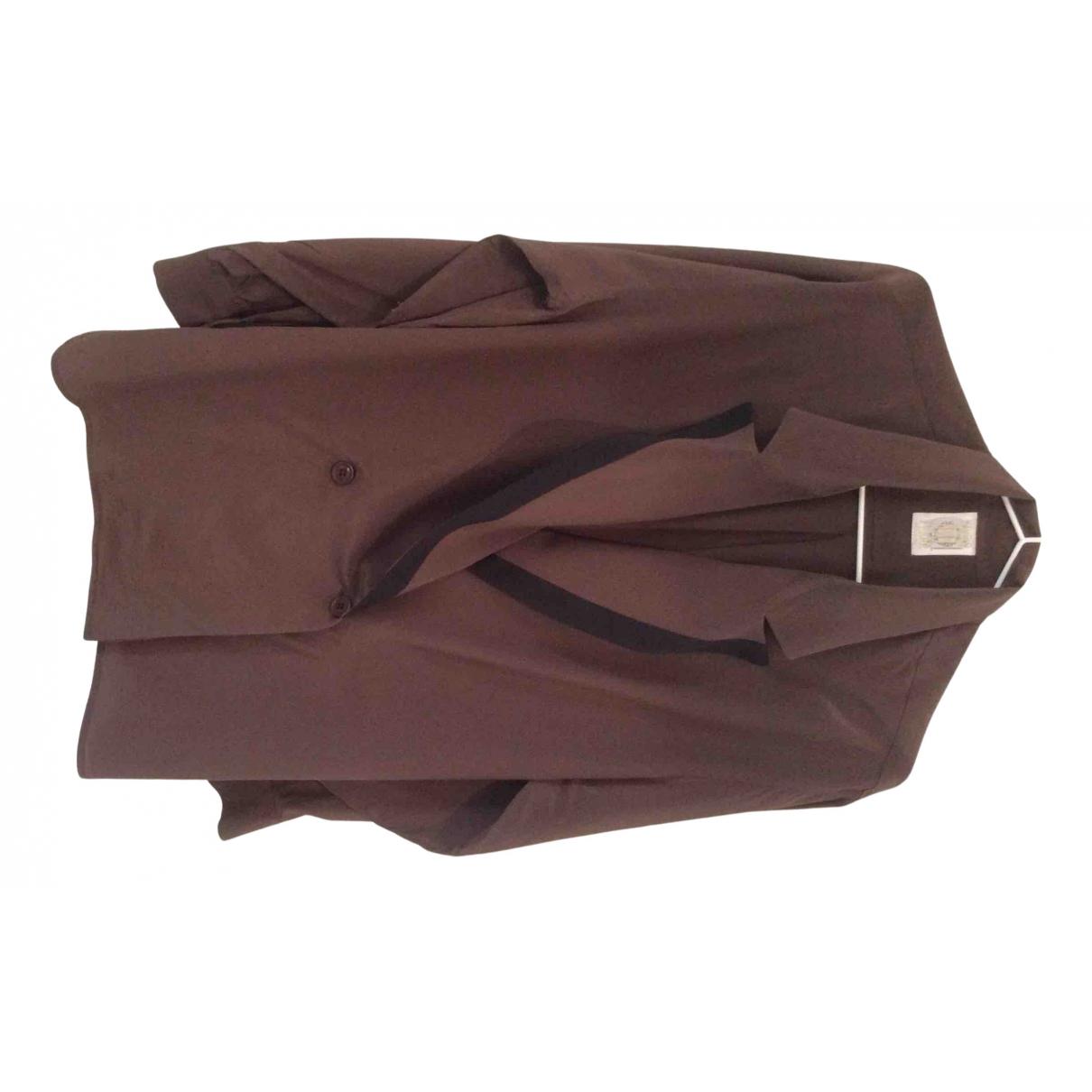 Gianfranco Ferre - Veste   pour femme en soie - marron