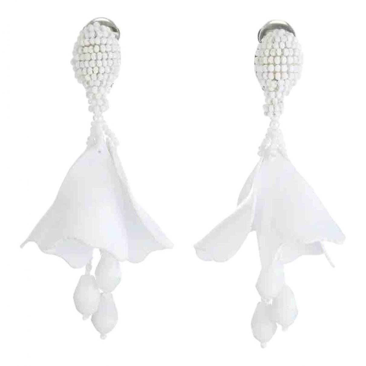 Oscar De La Renta - Boucles doreilles   pour femme en perles - blanc