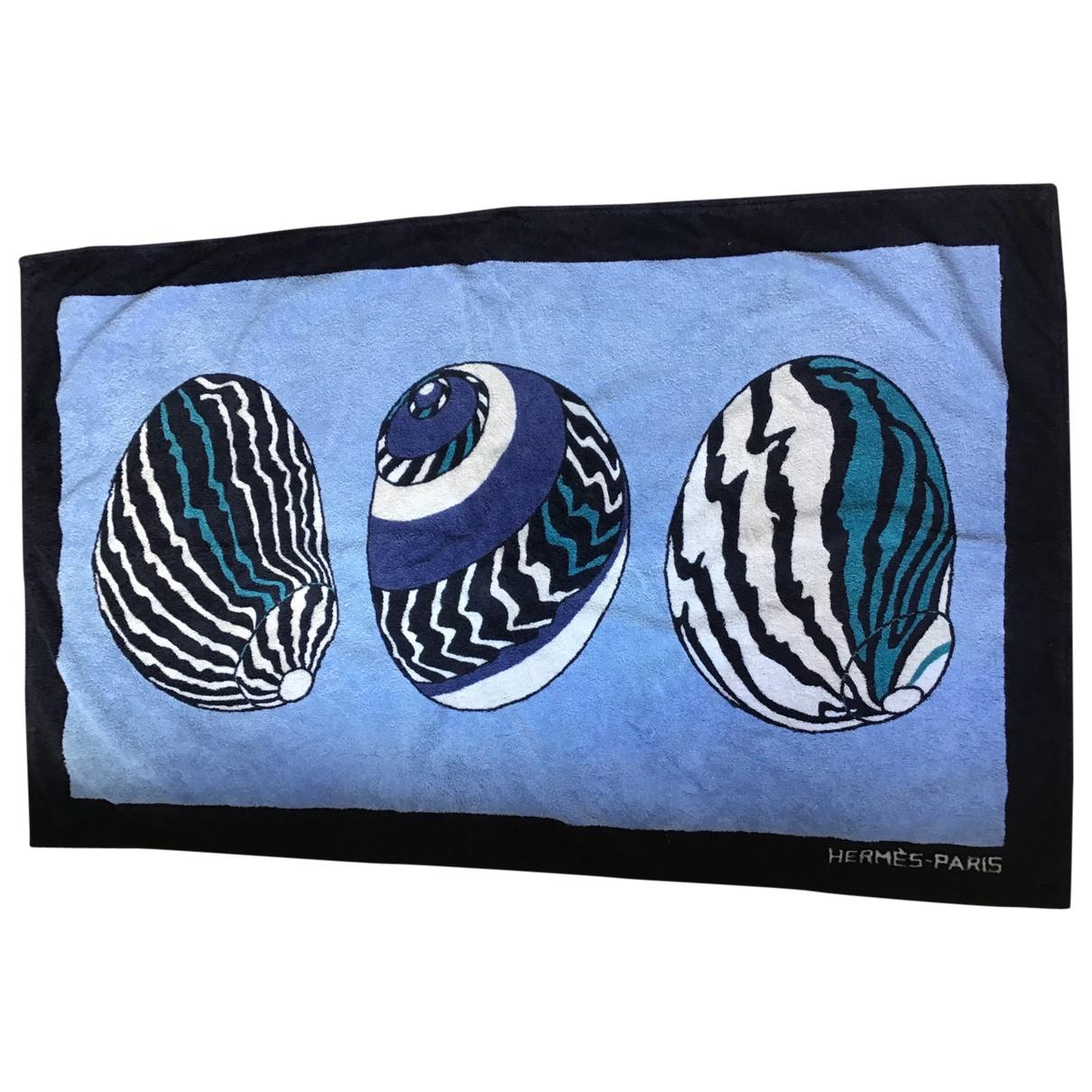 Hermes - Linge de maison   pour lifestyle en coton - bleu