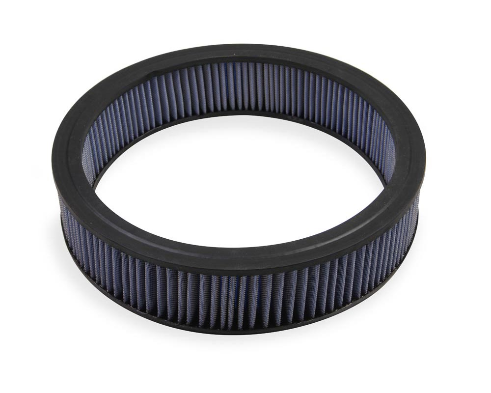 Mr. Gasket Air Filter - Replacement - 14 Inch x 3 Inch - Blue Washable