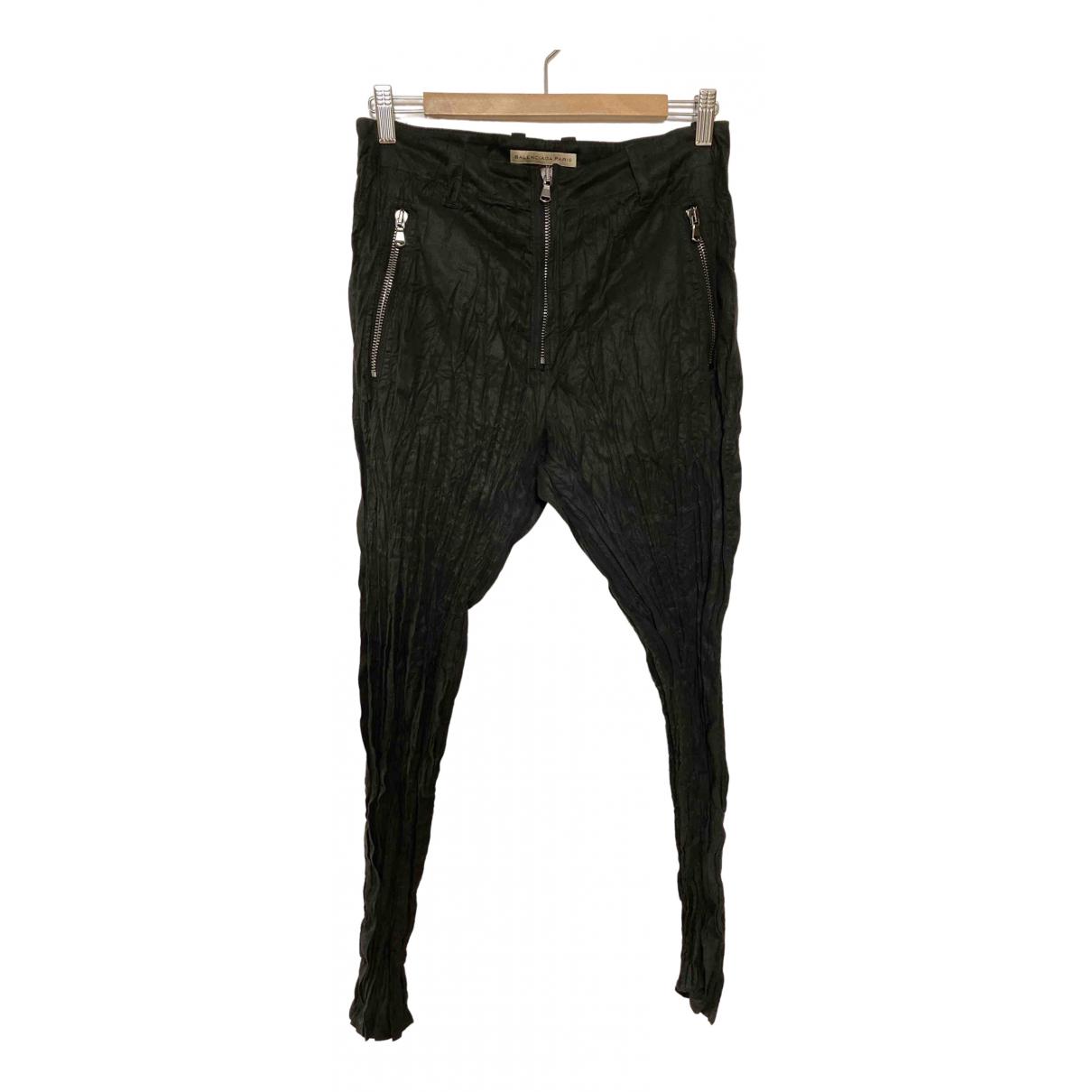 Balenciaga \N Hose in  Schwarz Polyester