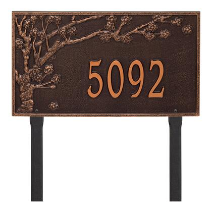2520AC Personalized Spring Blossom Plaque - Estate - Lawn - 1 Line in Antique