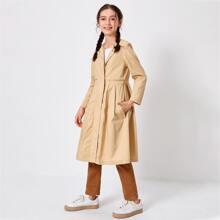 Mantel mit Reissverschluss und Falten Detail