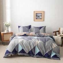 Colorblock Duvet Cover Without Filler