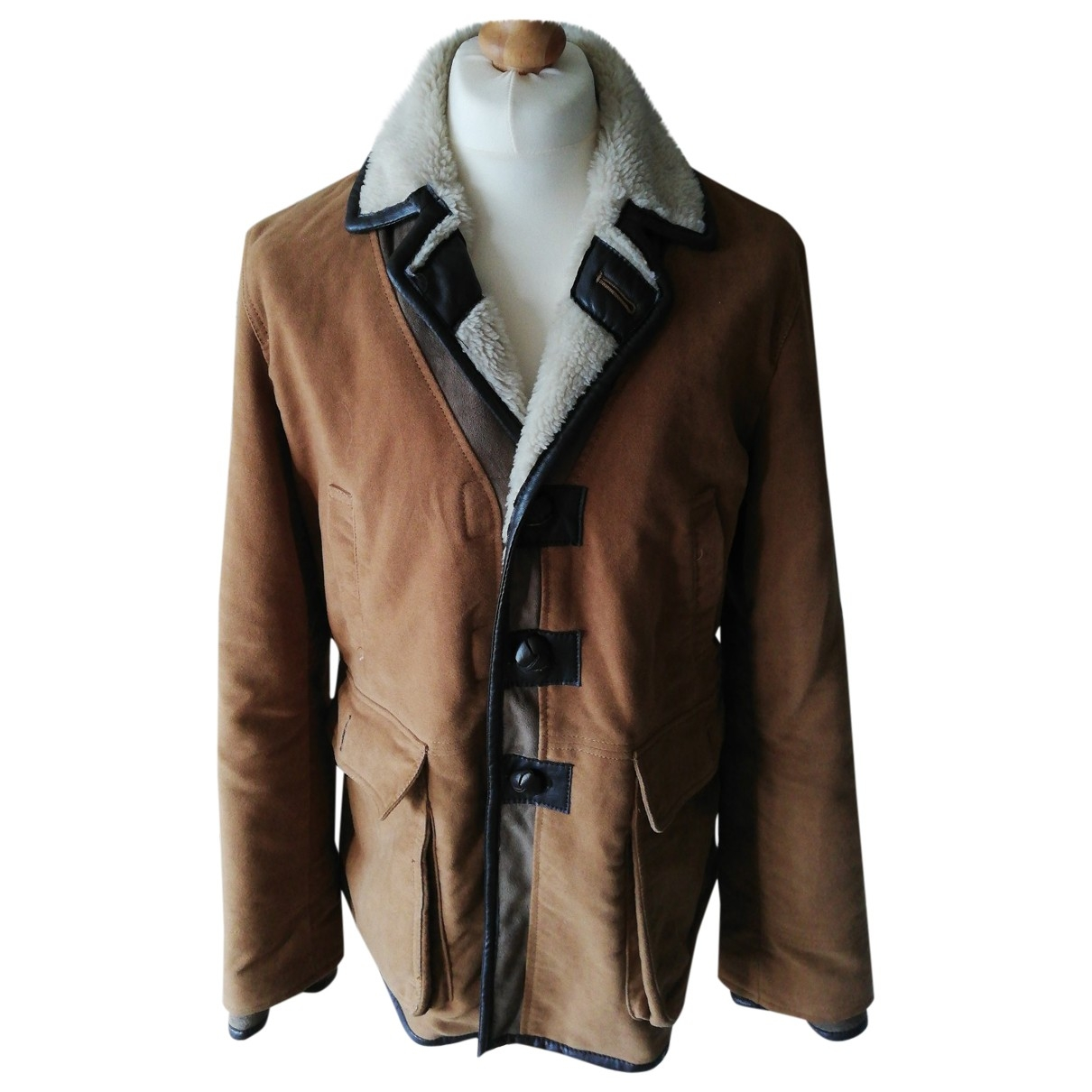 Zara \N Camel Faux fur jacket  for Men XL International