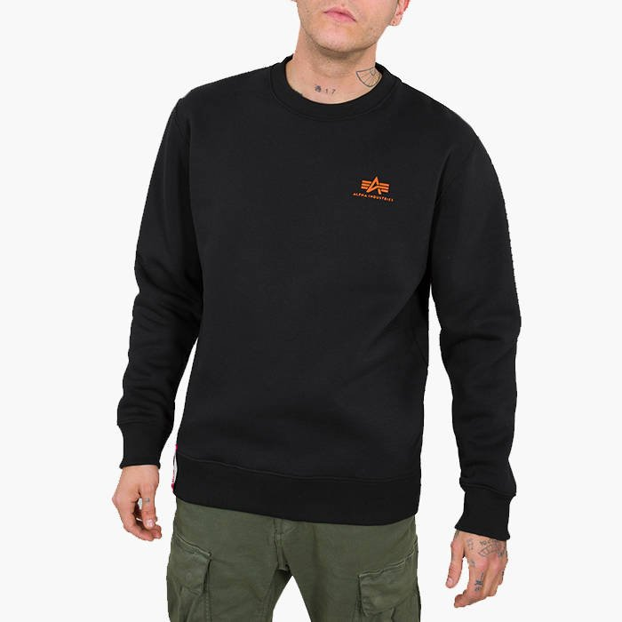 Alpha Industries Basic Sweater Small Logo Neon Print 188307NP 477
