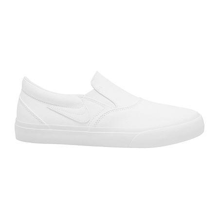 Nike Charge Slip Womens Skate Shoes, 8 Medium, White